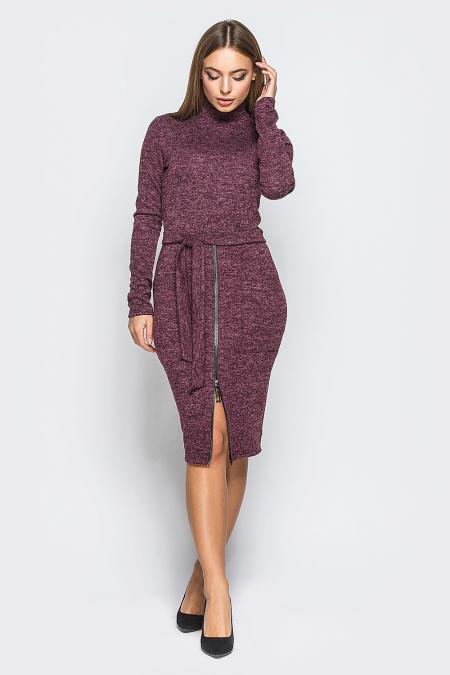 Платье 18-106 с молнией марсала