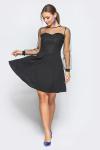 """Платье 18-102 """"полусолнце"""" черное"""