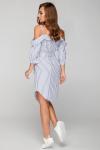 Платье 17-42 морячка полоска белое