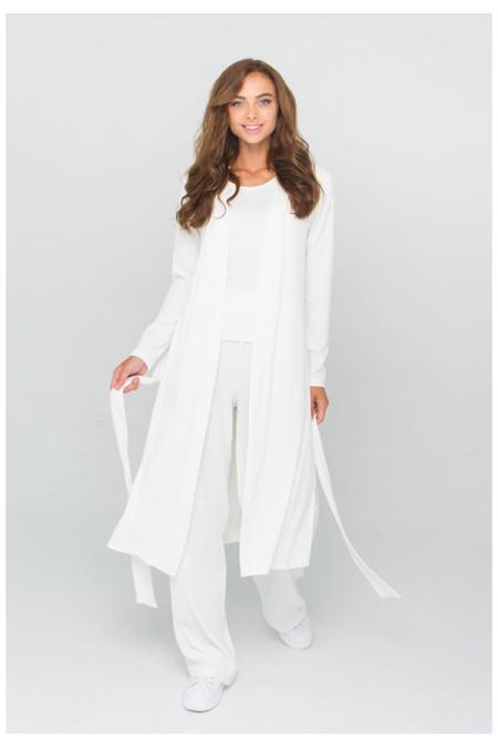 Трендовый костюм этой осени 21-026 рубчик цвет молоко