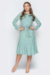 Платье 19-11 сафари оборка оливка. Купить оптом и в розницу