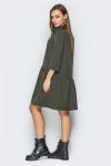 Платье 19-12 планка с пуговицами хаки