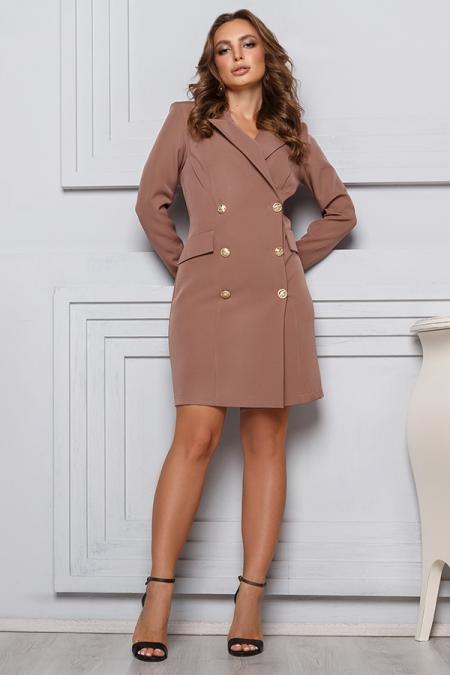 Платье 20-004 пиджак капучино