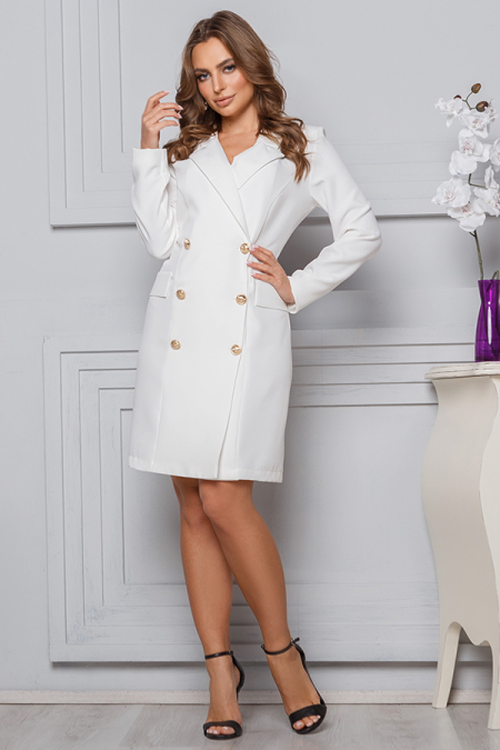 Платье 20-004 пиджак молоко