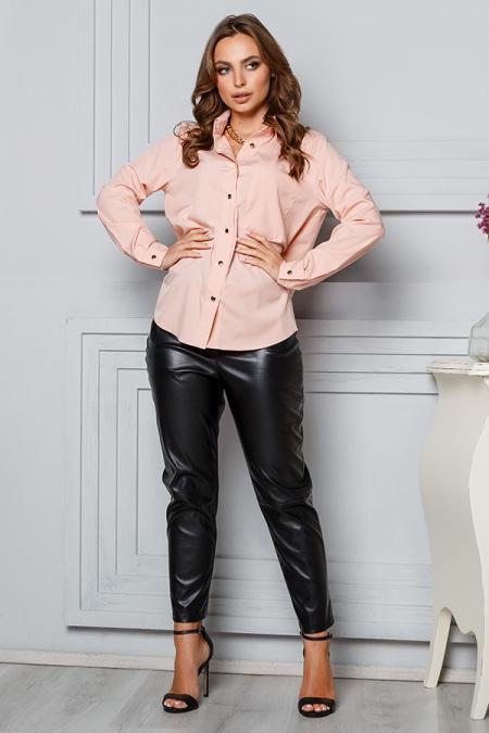 Блуза 20-012 карман золотые пуговицы персик. Купить оптом и в розницу